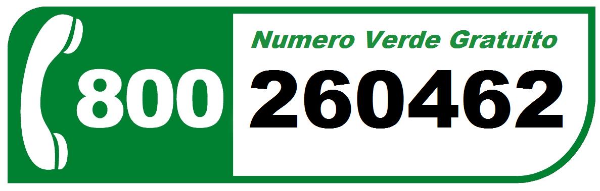 Numero Verde 800 260462